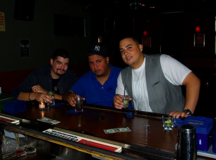 DualShockers Getting Loose Before the Event (from left to right) Al Zamora, Yaris Gutierrez, and Joel Taveras