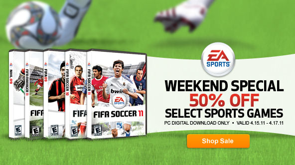 Select EA Games Half Off This Weekend