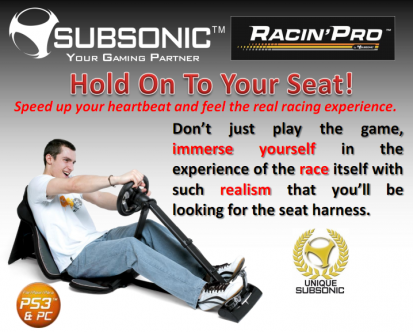 Subsonic Racin' Pro Steering Wheel Controller Now Available In US Stores