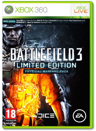 The Battlefield 3: Limited Edition Physical Warfare Pack is a Decent Pre-order Bonus