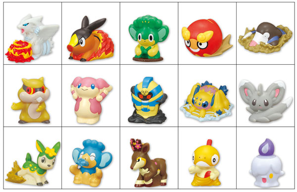 Bandai's New Pokemon Black/White Candy Toys Up for Preorder