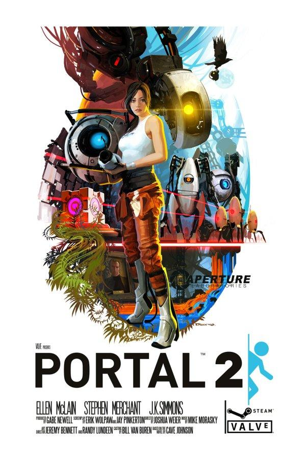 Awesome 1970's-Style Portal 2 Poster Coming Soon to Valve Store