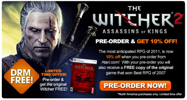 Pre-order The Witcher 2 From Official Site, Get 10% Off