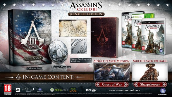Assassin's Creed III Gets Three Collector's Editions