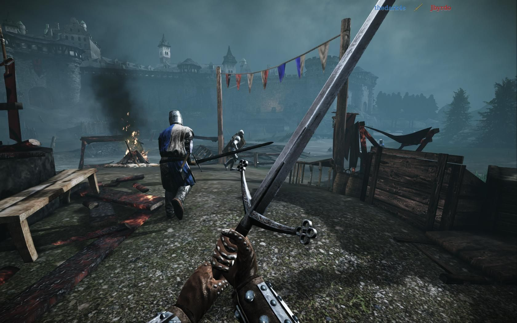Swing swords and hatchets as chivalry: medieval warfare goes free.