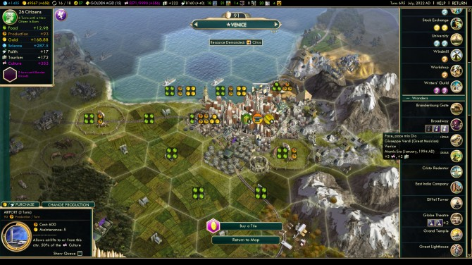 CivVBNW_ReviewScreen_Venice city mgt with great work