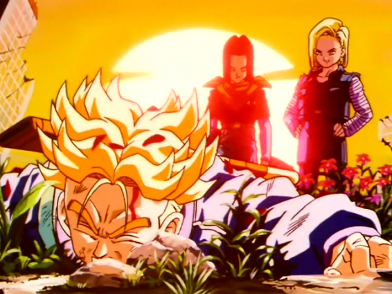 DBZ - Future Trunks Defeated By Androids