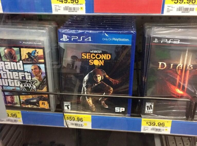 Walmart has inFAMOUS: Second Son on The Shelves Already, but