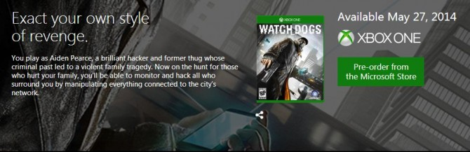 Xbox OneWatchDogs
