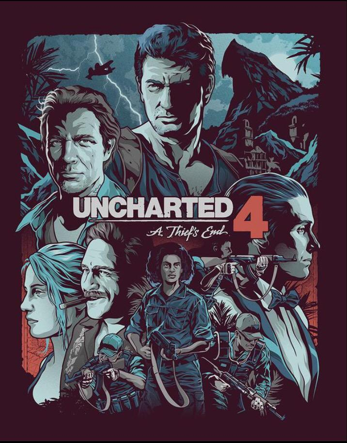 Uncharted 4 A Thief S End S Steelbook Cover Was Drawn By The