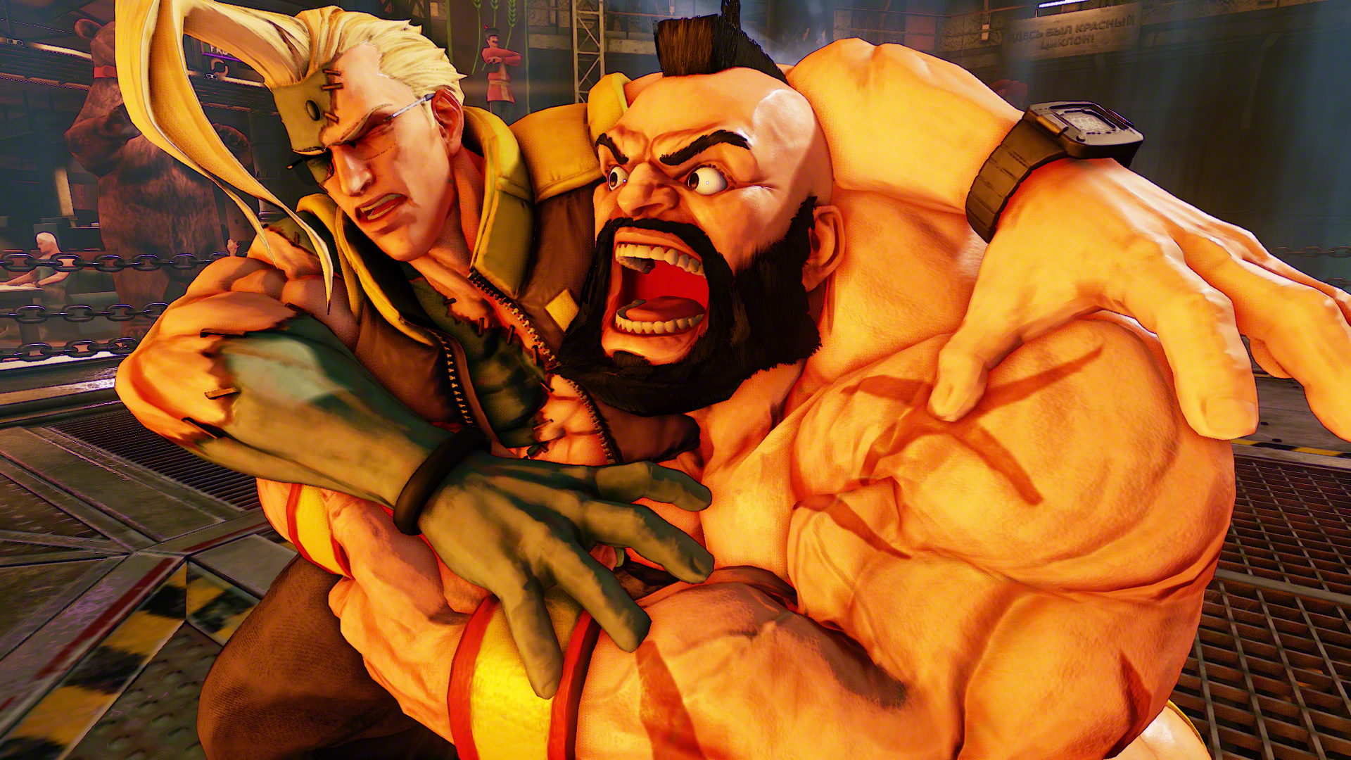 Street Fighter V S Newly Announced Character Zangief Gets Muscular