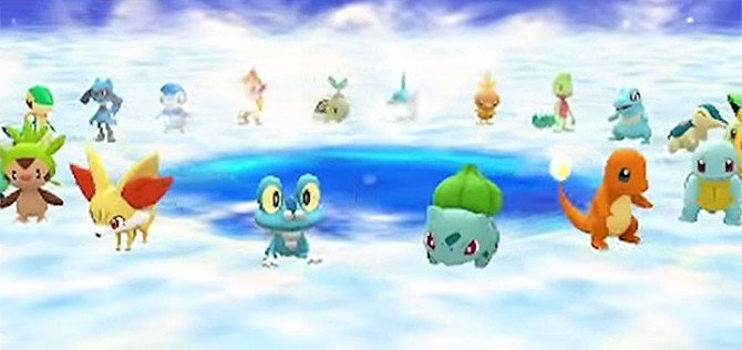 There's a nice number of playable Pokemon to choose from in this game.