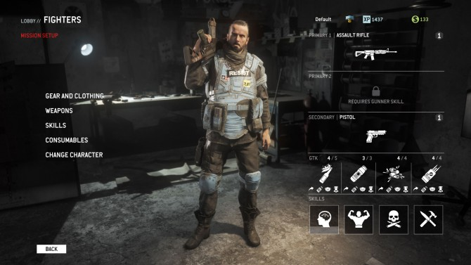 Multiplayer features a skill system missing from single player, instead you collect gear