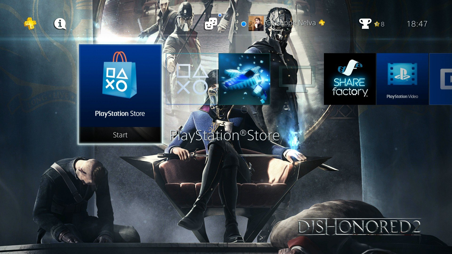 Dishonored 2 Gets Three Ps4 Dynamic Themes For Free And Theyre