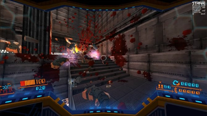 All screenshots are from the PC version of Strafe