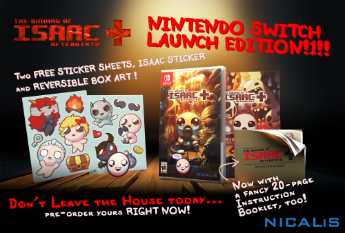 Binding of Isaac: Afterbirth+ Delayed Past Switch Launch