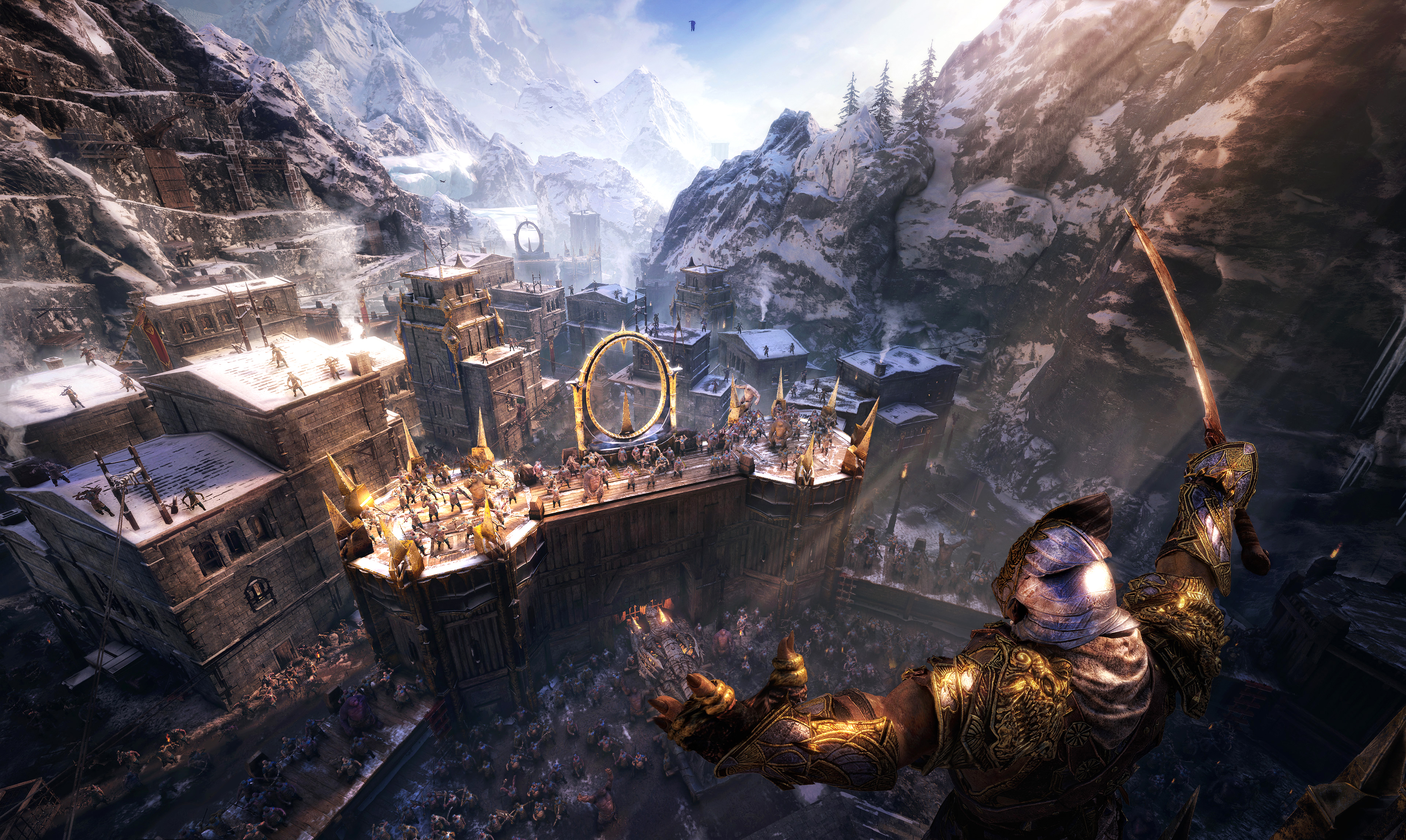 Middle Earth Shadow Of War Gets New 4k Gameplay Showing Off Minas