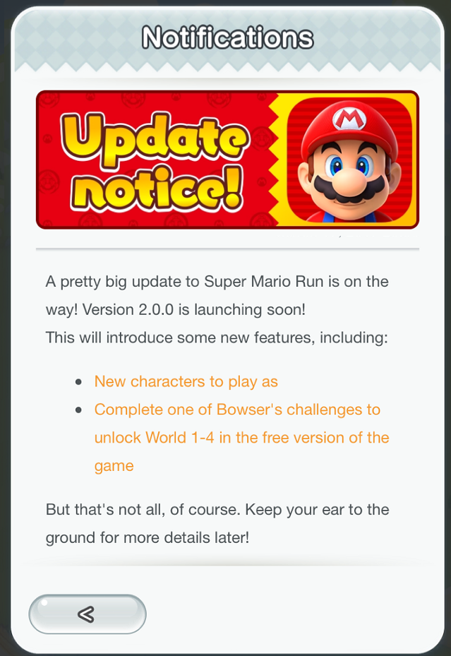 Super Mario Run's Update Will Bring New Characters, Free Level