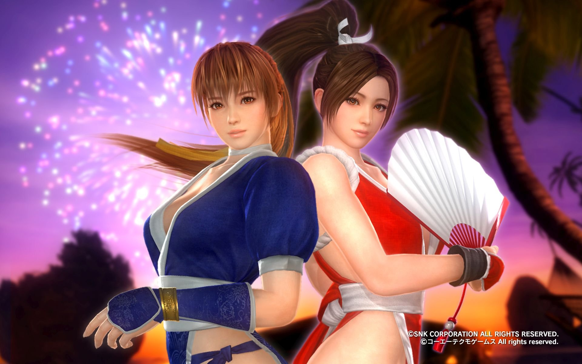 Heroines Of Dead Or Alive 5 Last Round And King Of Fighters Xiv