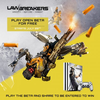 Lawbreakers Open Beta Dates Announced; Beta Pre-Download Available for a Limited Time