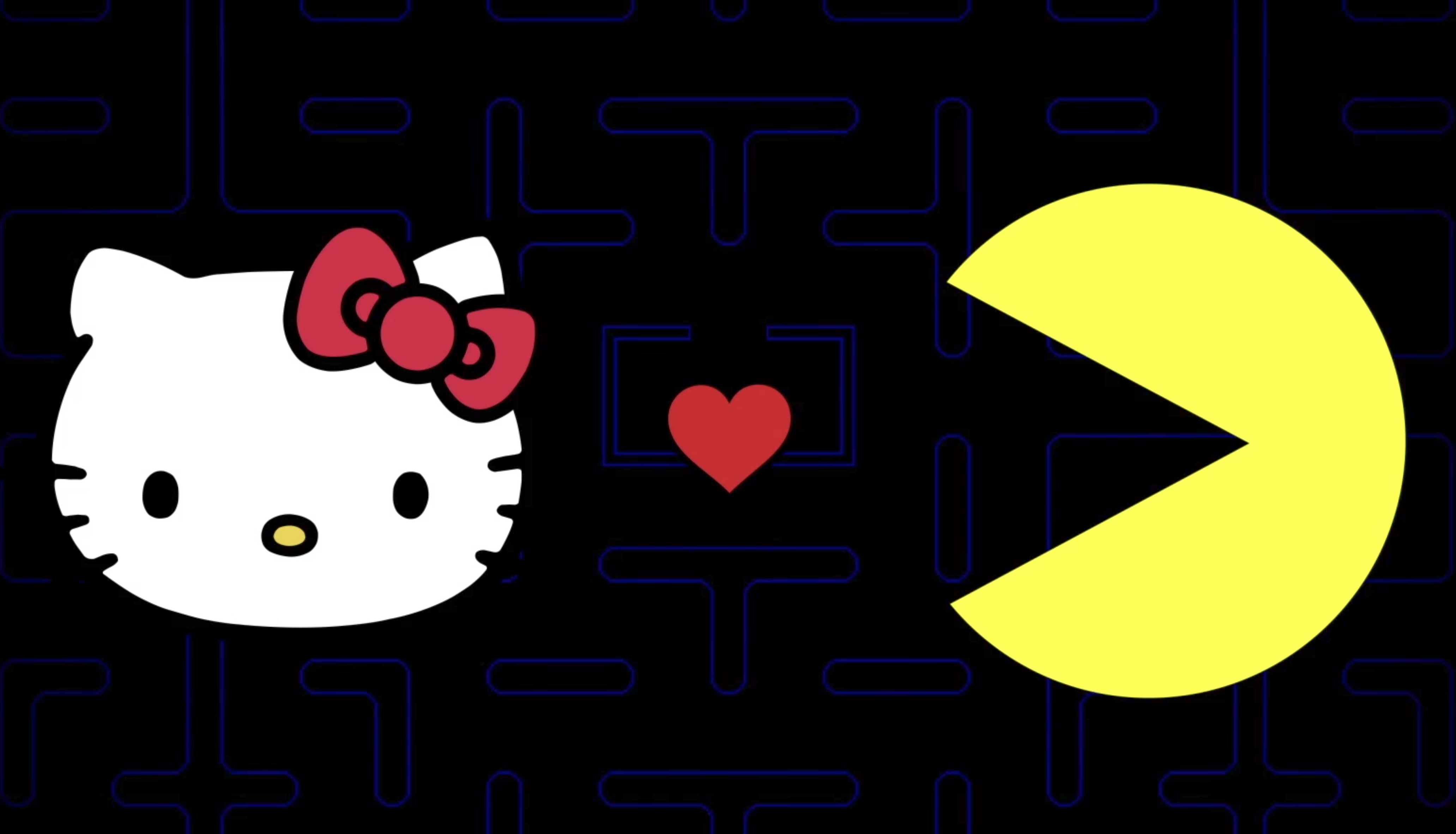 40155017f Pac-Man and Hello Kitty Have Finally Found Each Other in a Limited  Crossover Event