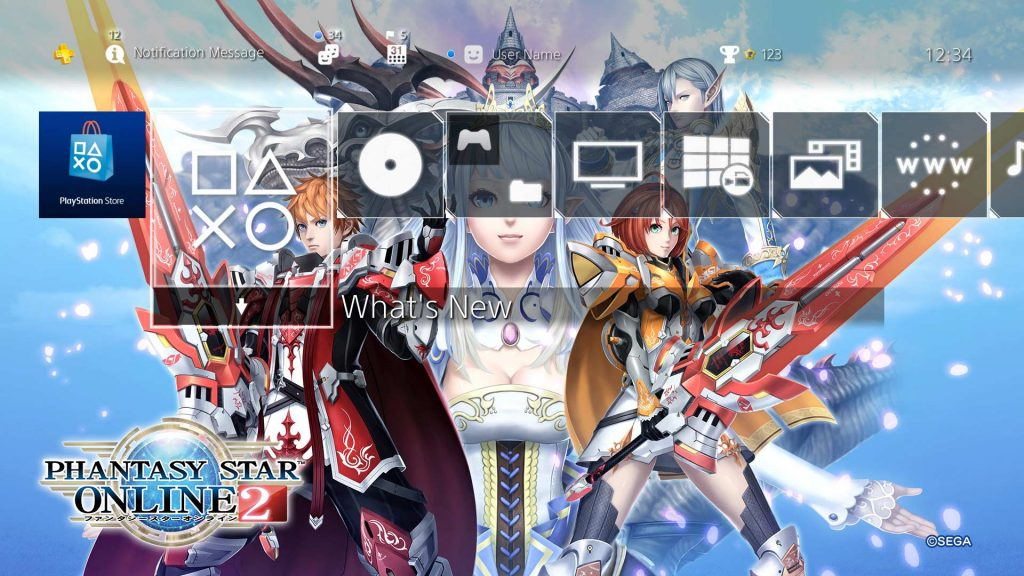 Grab a Free Phantasy Star Online 2 PS4 Theme and Cry Because We Can't Have the Game