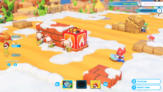 Mario + Rabbids Kingdom Battle Review -- A Quirky Crossover With Excellent Gameplay