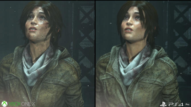 Rise of the Tomb Raider Xbox One X PS4 Pro Feature