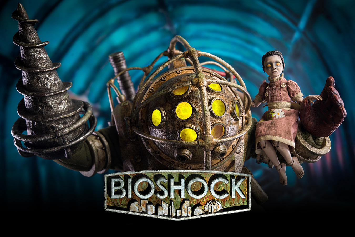Bioshock Big Daddy And Little Sister Figure Set Now