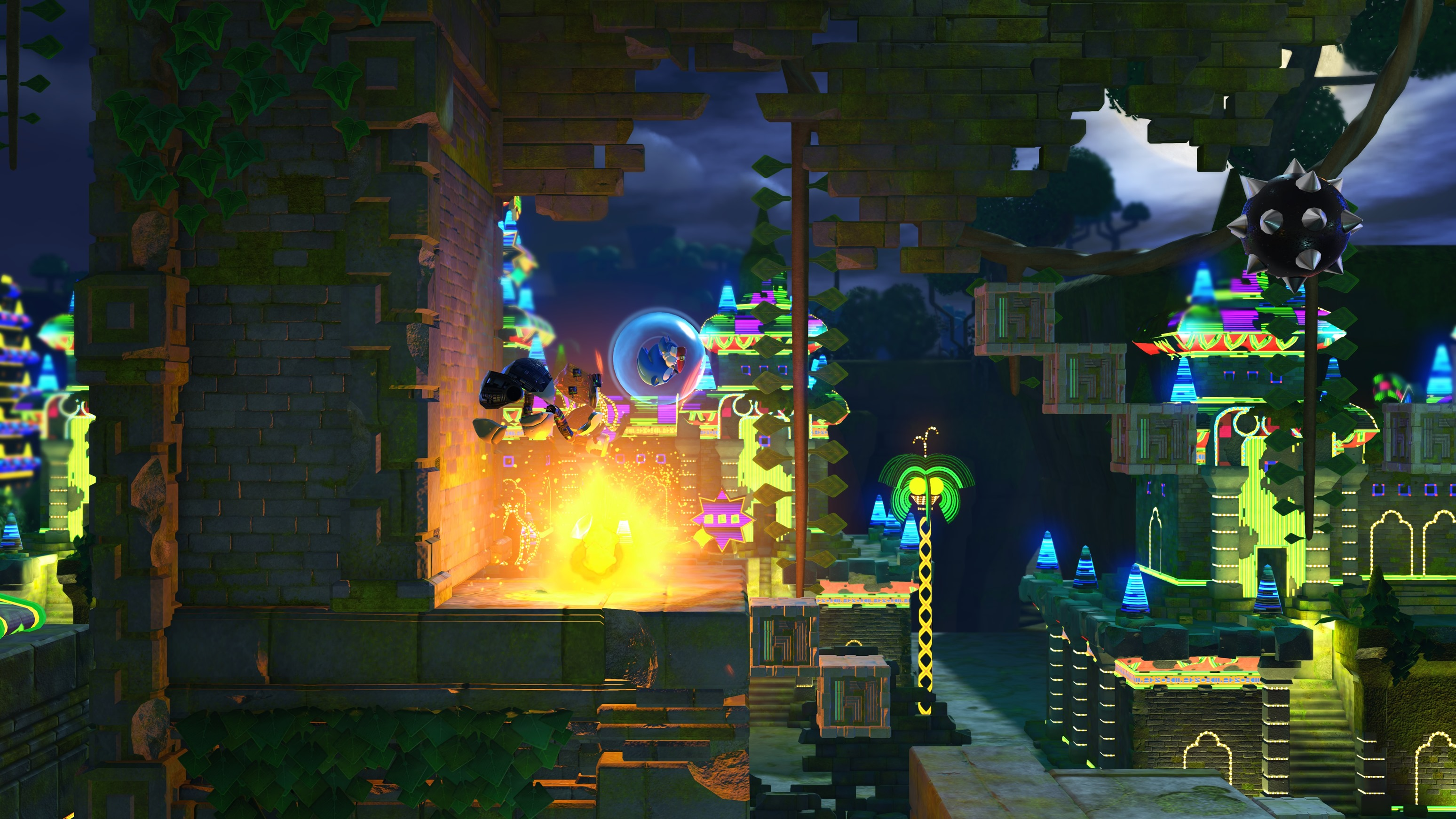 sonic forces gets a new gameplay trailer focusing on a classic sonic stage