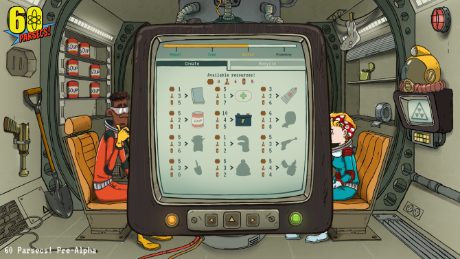 60 Parsecs! Preview -- The Charming Visuals and Gameplay of 60 Seconds!, IN SPACE!