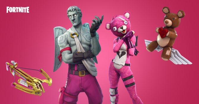 Fornite's Valentine's Day-themed Update Detailed; Adds New Skins, Weapons, and More