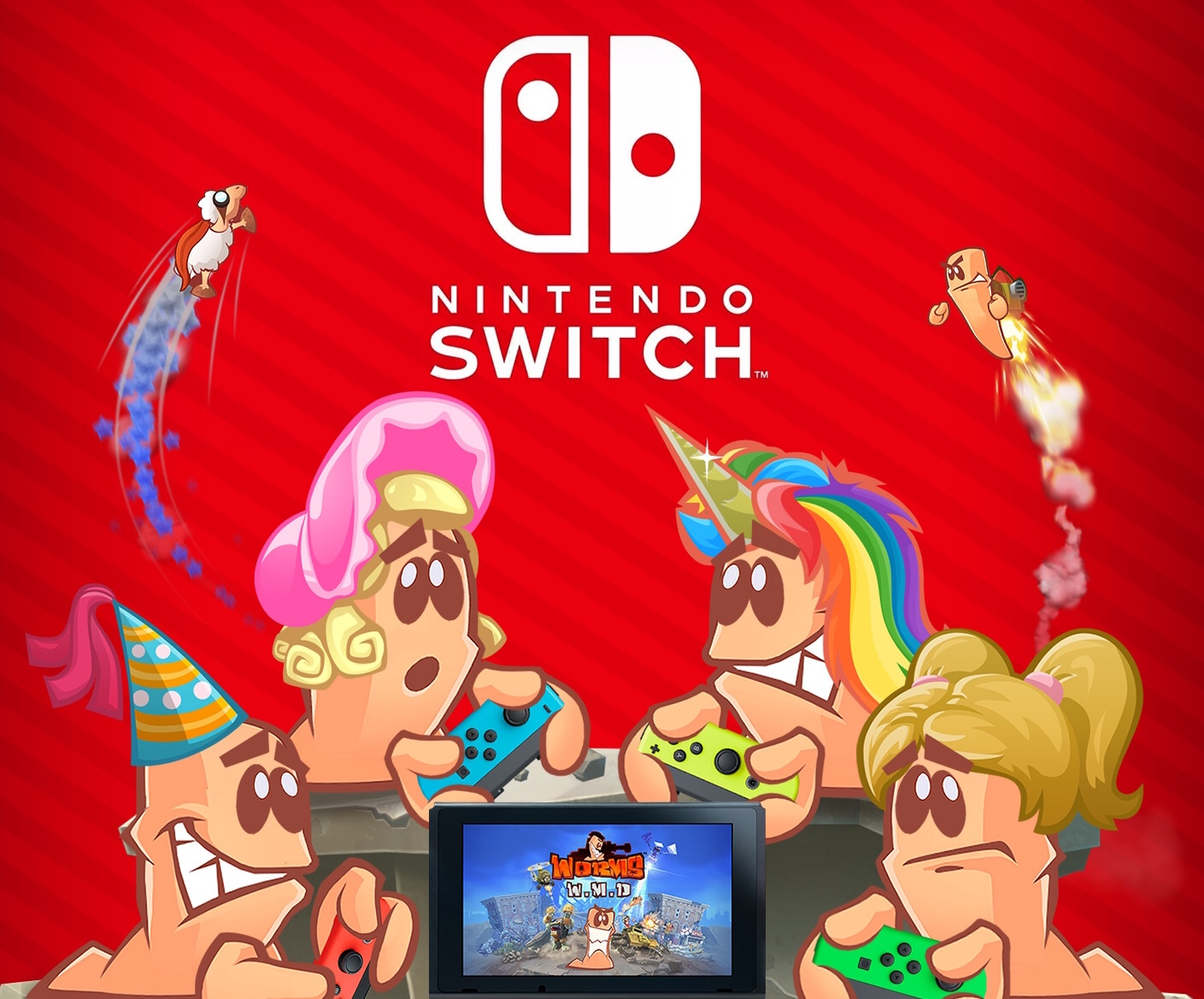 Team17 Cancels Physical Version of Worms W M D  for Switch
