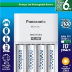 Panasonic Battery Charger Pack with 4 AA eneloop Batteries
