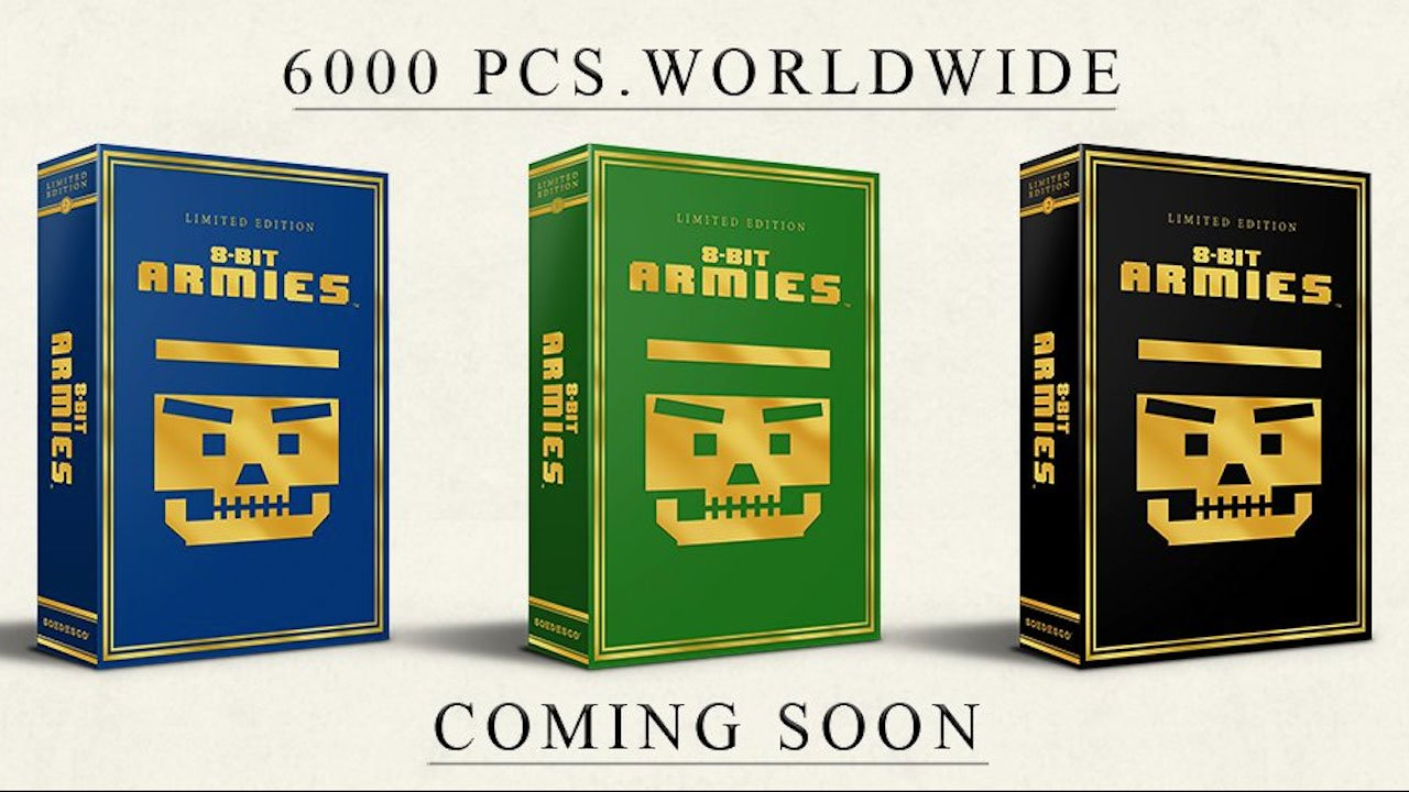 8-Bit Armies Limited Edition Packages in Three Different