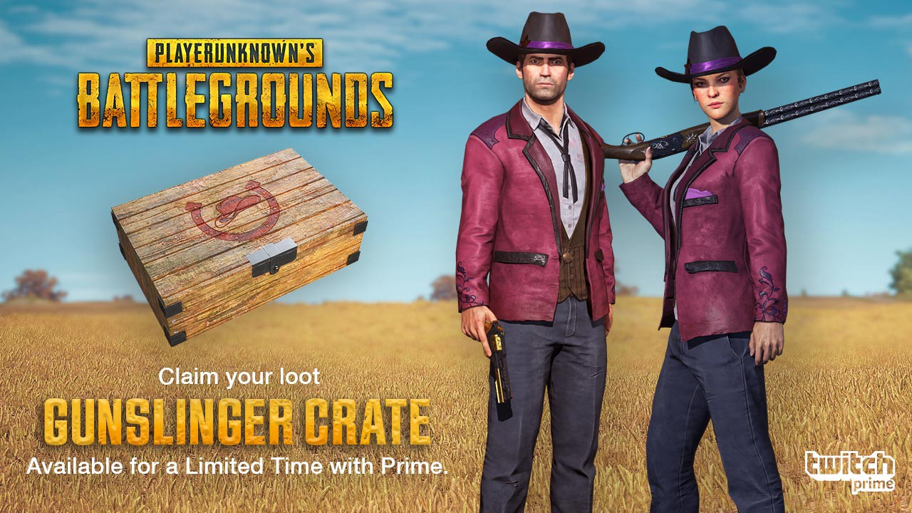 PlayerUnknown's Battlegrounds Latest Twitch Prime Loot Goes West