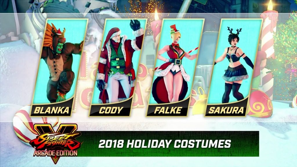 Street Fighter V: Arcade Edition's Holiday Costumes Set the Scene for Some Festive Fisticuffs