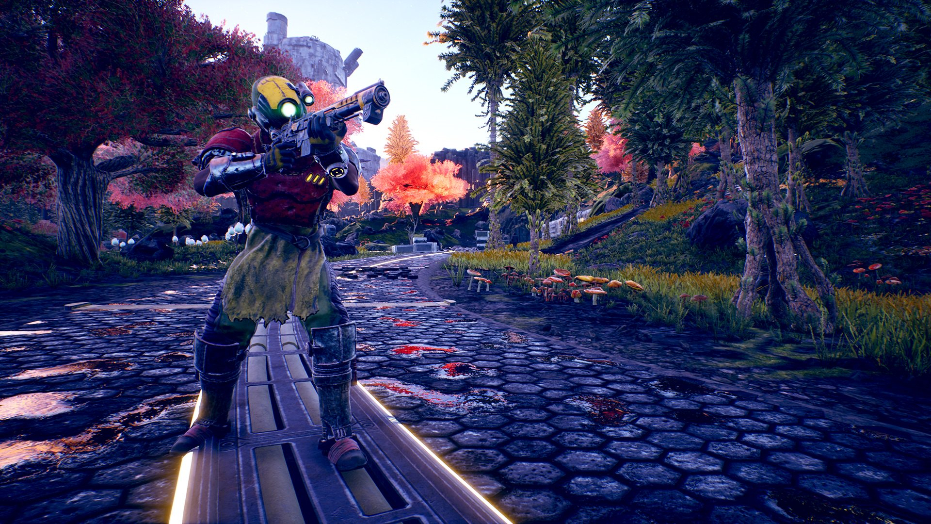 The Outer Worlds Obsidian Entertainment Fallout PC PS4 Xbox One Interview Level Caps Procedural Generation