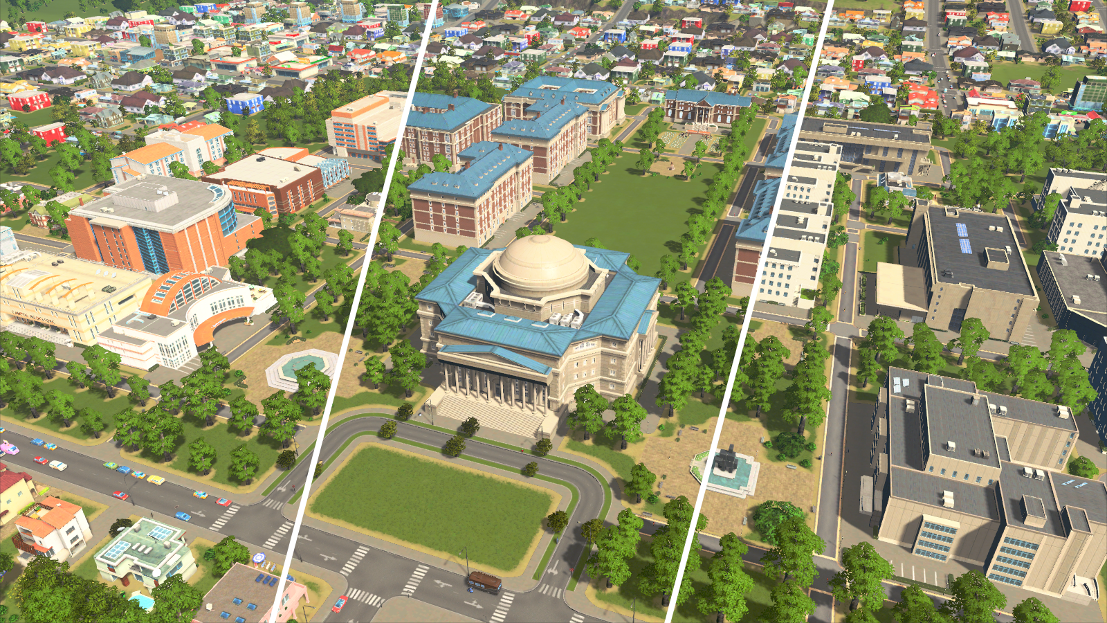 Cities: Skylines Gets Universities and College Sports in May