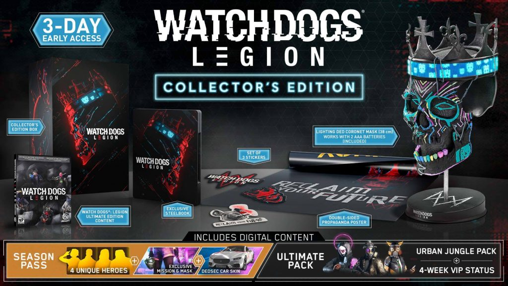 Pre-Order Watch Dogs Legion Collector's Edition and Bag Yourself an Exclusive Collectable Mask and Much More