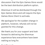 Shenmue 3 Developers Refuse Refund Requests From Fuming Backers Over