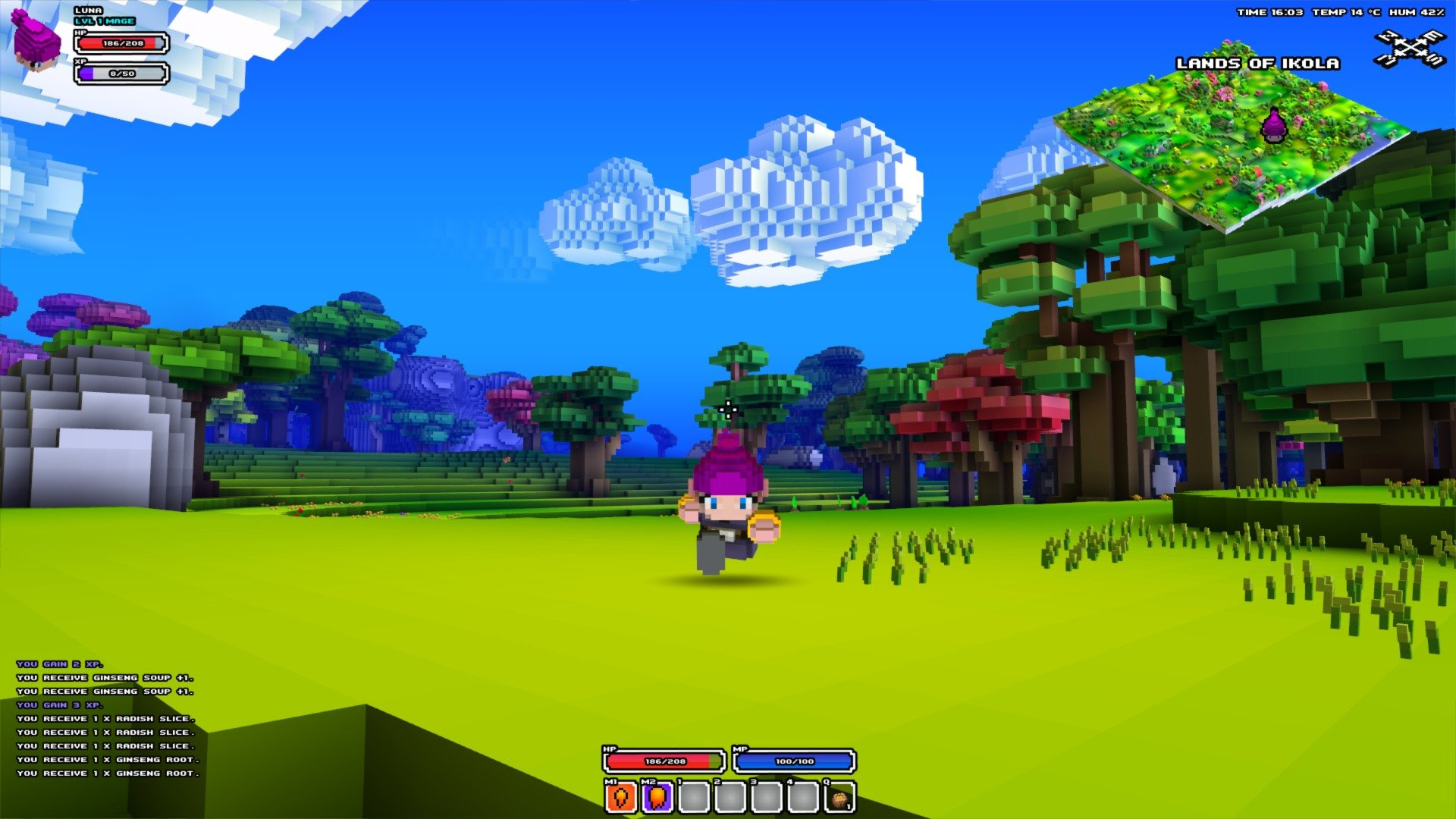 various styles good texture free shipping Long-in-Development Voxel-based action RPG Cube World ...