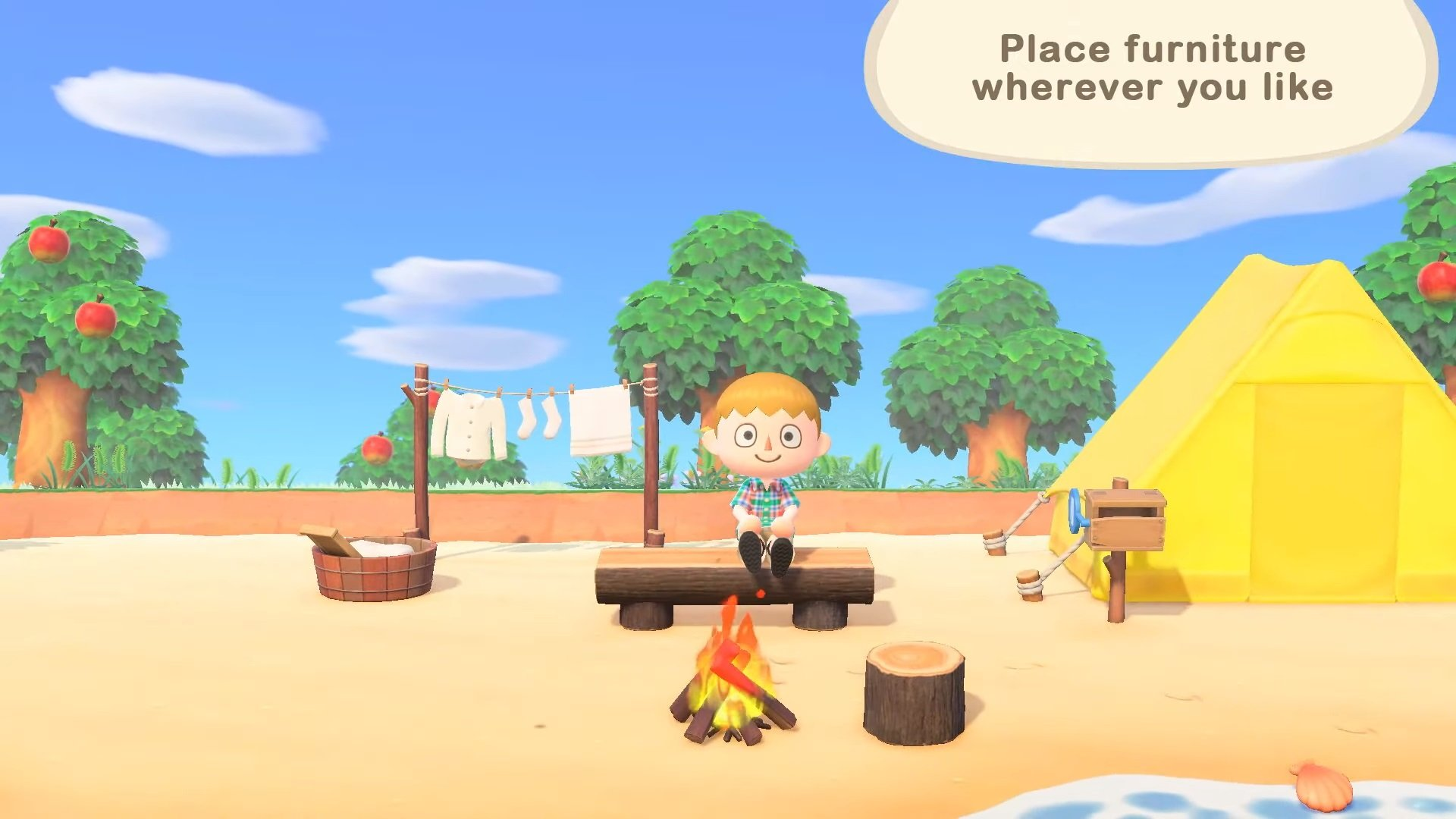 Animal Crossing New Horizons Trailer Features Relaxing
