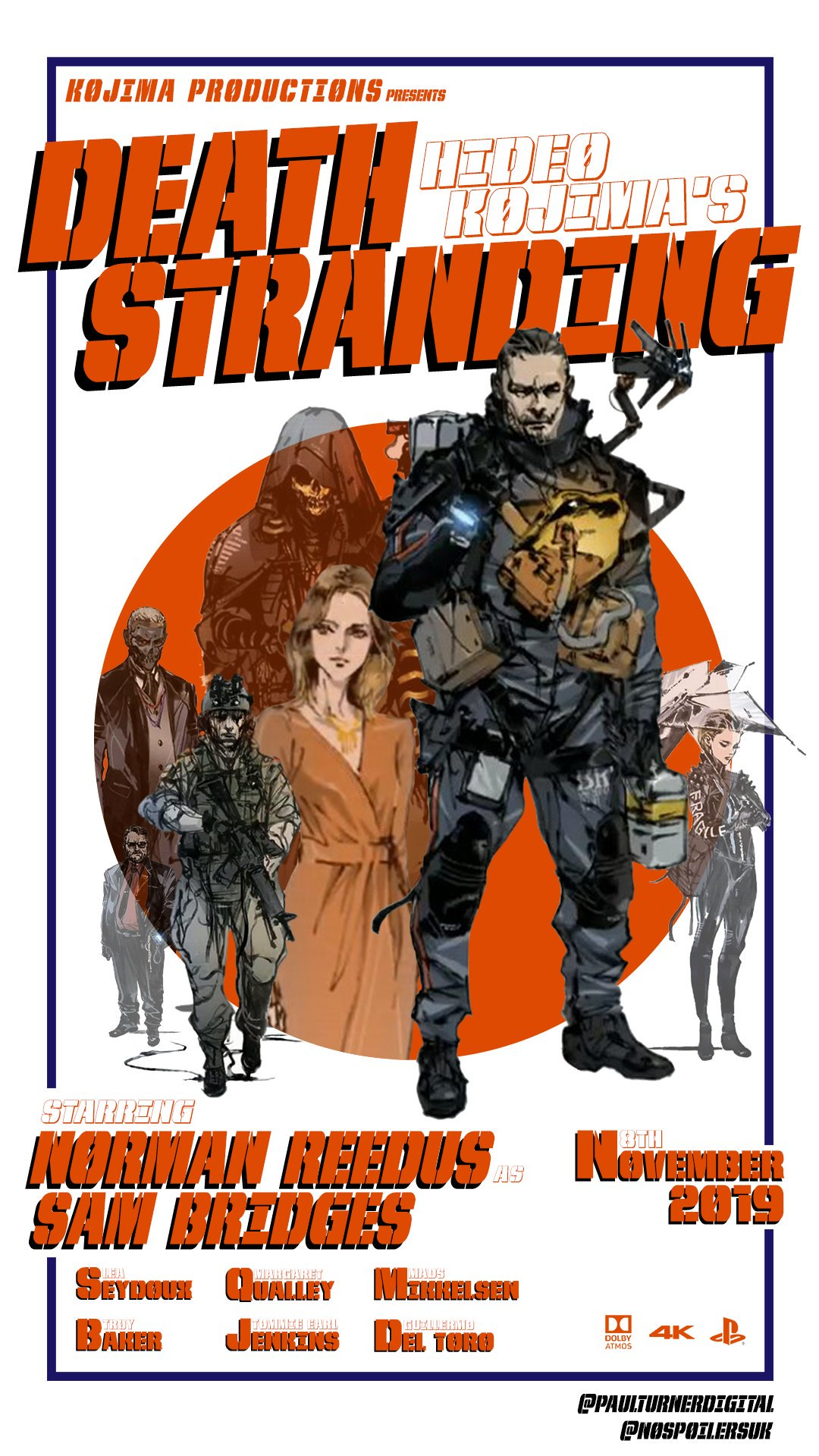 Death Stranding Travels Back to the 60s in This Bond Inspired Poster