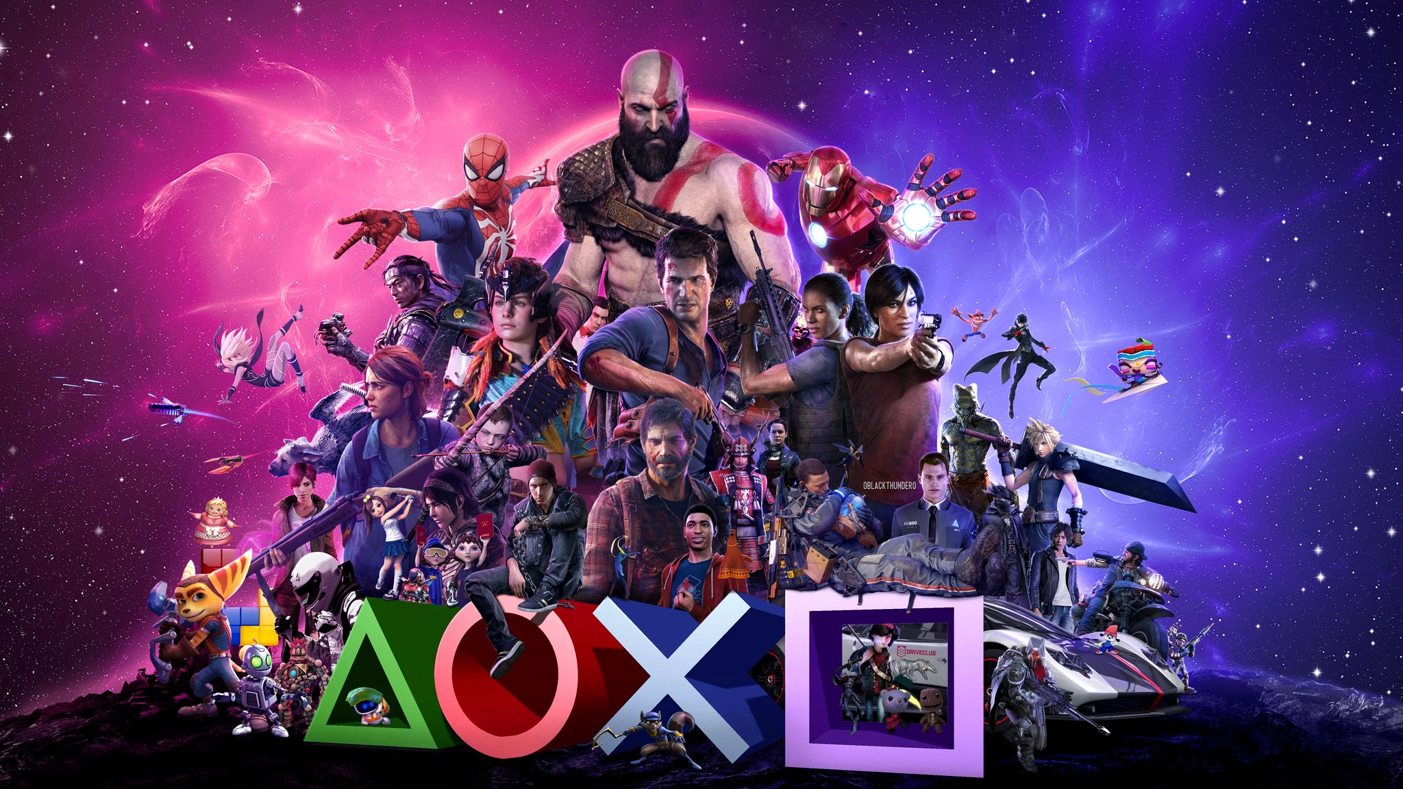Playstation Fan Art Shows Off Over 50 Gaming Legends In One Scene