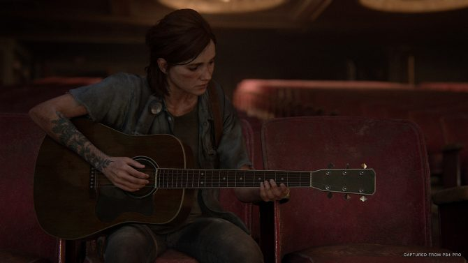 The Last of Us Part 2 Ellie playing guitar