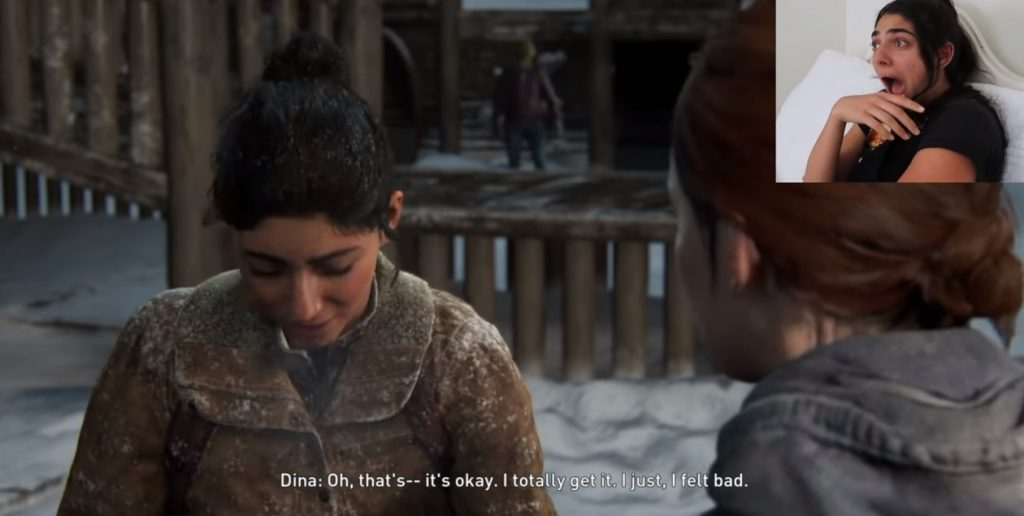 The Last of Us Part II's Dina Wholesomely Reacts to Seeing Herself in the Game