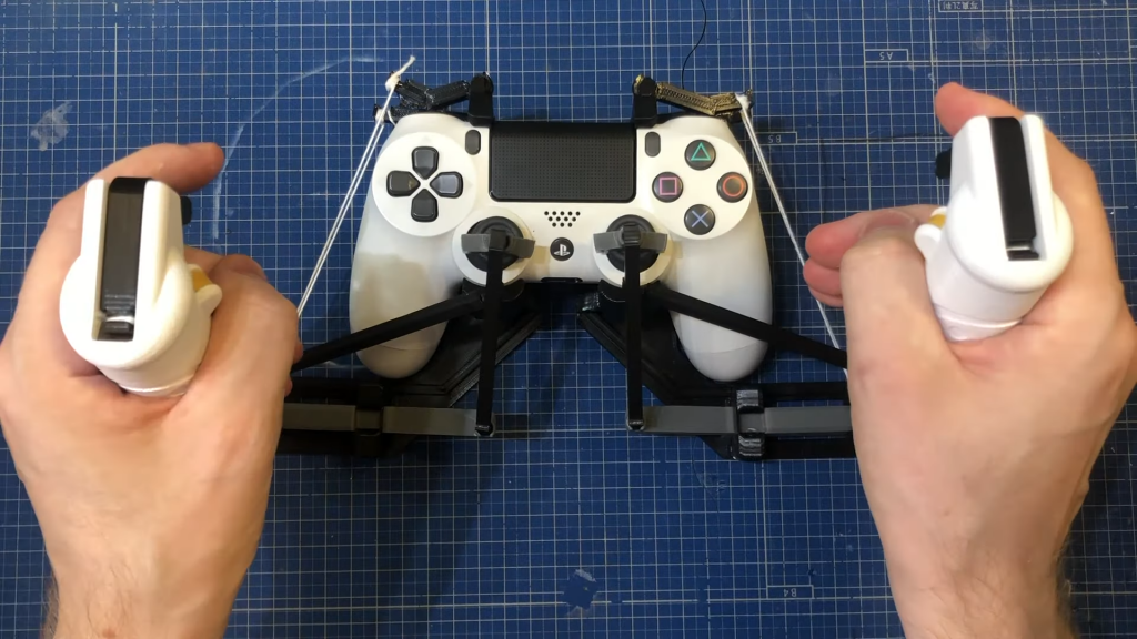 3D printed HOTAS for DualShock 4 for Star Wars Squadrons