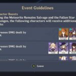 Genshin Impact Unreconciled Stars event Character Boost 1