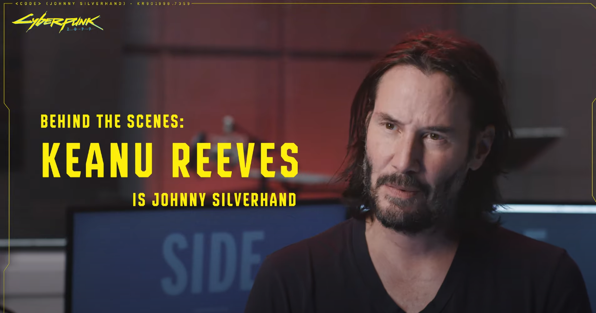 Cyberpunk 2077 New Videos Highlight Keanu Reeves' Role as Johnny Silverhand